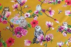 Cotton Jersey Digital Owl Oker