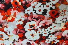 Cotton Jersey Digital Flowers Red 3