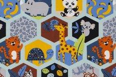 Cotton Jersey Little Zoo Animals