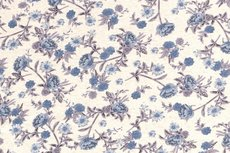 Viscose Jersey Flowers Creme/Blue