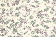 Viscose Jersey Flowers Creme/Green