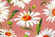 Viscose Crincle Big Flowers Old Pink 1