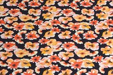 Cotton Jersey Digital Small Flowers Yellow