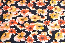 Cotton Jersey Digital Flowers Yellow1