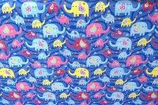Cotton Jersey Elephant Kobalt