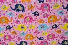 Cotton Jersey Elephant Light Pink