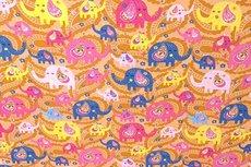 Cotton Jersey Elephant Orange