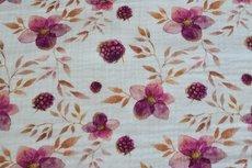 Mousseline Digital Flowers Off White 5