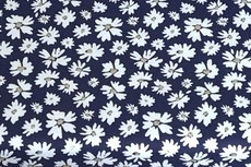 Cotton Jersey Foil Flower Navy