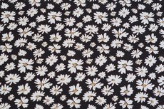 Cotton Jersey Foil Flower Black