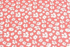 Cotton Jersey Foil Flower Zalm