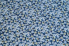 Viscose Jersey Little Flowers Blue 2