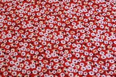 Viscose Jersey Little Flowers Red 2