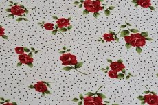 Viscose Jersey Little Flowers Dots White