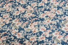 Cotton Jersey Digital Flowers Blue 4