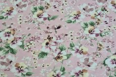 Cotton Jersey Digital Flowers Light Pink 4