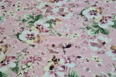 Cotton Jersey Digital Big Flowers Light Pink 4