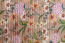 Plissé Chiffon Flowers Beige