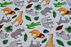 Cotton Printed Animals Off White