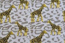 Cotton Printed Giraffe Beige