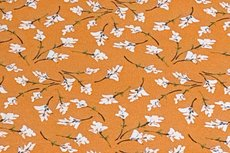 Viscose Jersey Little Flowers Orange