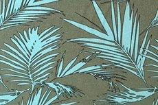 Linnen Viscose Plants Turquoise