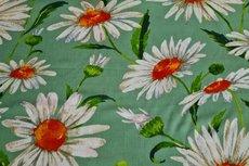 Viscose Crincle Big Flowers Mint 1
