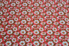 Viscose Crincle Little Flowers Red 1
