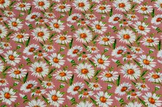 Viscose Crincle Little Flowers Old Pink 1