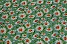 Viscose Crincle Little Flowers Mint 1