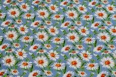 Viscose Crincle Little Flowers Light Blue 1