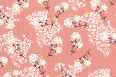 Viscose Crincle Flowers/Stripe Old Pink