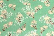 Viscose Crincle Flowers/Stripe Mint