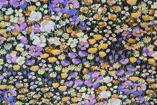 Chiffon Goldfoil Flowers Lila