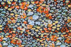 Chiffon Goldfoil Flowers Orange