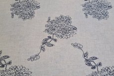 Linnen Viscose Embroidery Natural/Navy