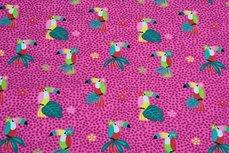 Cotton Jersey Toekan Pink