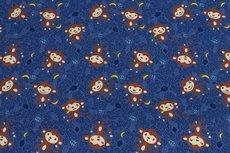 Cotton Jersey Monkey Blue