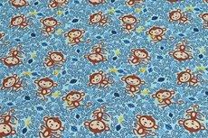 Cotton Jersey Monkey Light Blue