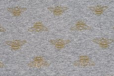 Cotton Jersey Foil Bee Grey
