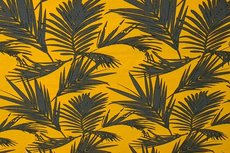 Linnen Viscose Plants Yellow