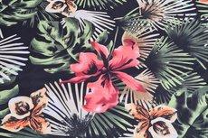 Poly Flowers Black
