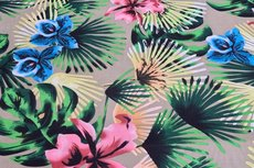 Poly Flowers Beige