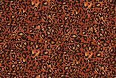 Cotton Jersey Leopard Panther Orange R