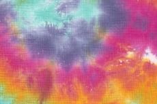 Mousseline Tie-Dye Rainbow R