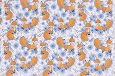 Cotton Jersey Little Fox Blue R