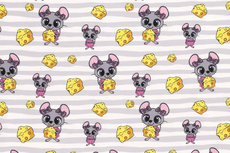 French Terry Mouse Cheese Grey R