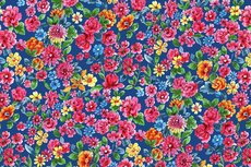 Cotton Jersey Digital Dalbir Flowers Cobalt