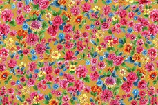 Cotton Jersey Digital Dalbir Flowers Oker