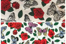 Cotton Jersey UV-Toverstof Roses